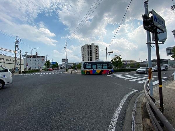 長久手市内のリニモの「はなみずき通駅」と長久手市のNバス
